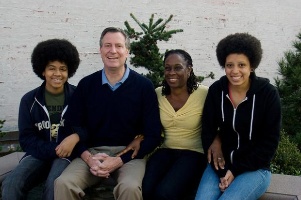 Photo of Bill de Blasio & his  Son  Dante de Blasio